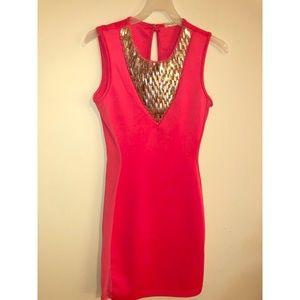Arden B pink mini dress